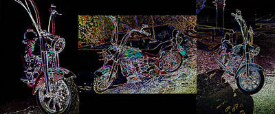 Photograph - Artistic Harley Montage by Charles Benavidez