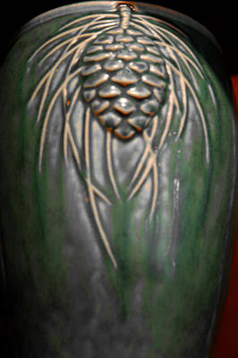 Artistic Pine Cone Vase Art Print by LeeAnn McLaneGoetz McLaneGoetzStudioLLCcom