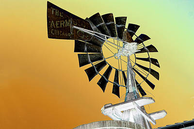 Artistic Windmill Art Print by Linda Phelps