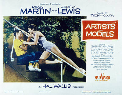 Artists And Models, Jerry Lewis Art Print