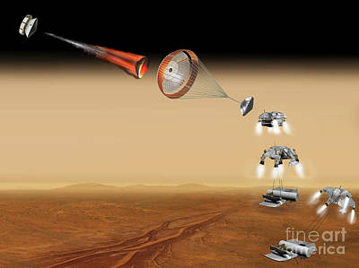 Time Capsule Digital Art - Artists Concept Of A Proposed Mars by Stocktrek Images