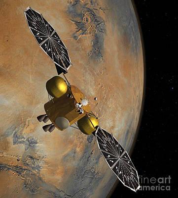 Artists Concept Of A Spacecraft Art Print