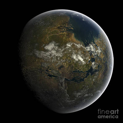 Terraform Digital Art - Artists Concept Of A Terraformed Mars by Frieso Hoevelkamp