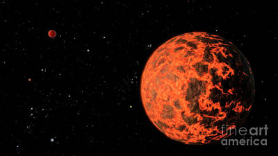 Exoplanet Digital Art - Artists Concept Of An Exoplanet Known by Stocktrek Images