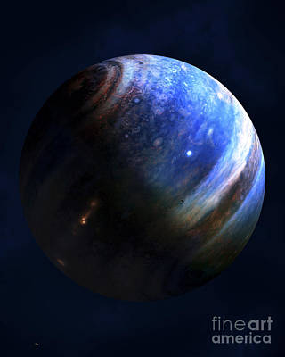 Extrasolar Planet Digital Art - Artists Concept Of An Extrasolar Gas by Fahad Sulehria