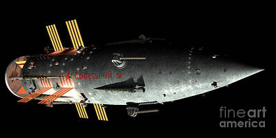 Artists Concept Of An Orion-drive Art Print by Rhys Taylor