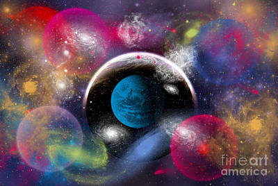 Dream Bubbles Digital Art - Artists Concept Of Dimensional Doorways by Mark Stevenson