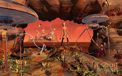Ancient Civilization Digital Art - Artists Concept Of Life On Mars by Mark Stevenson
