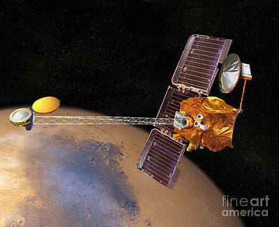 Digital Art - Artists Concept Of Mars Odyssey by Stocktrek Images