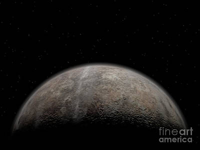 Artists Concept Of Pluto Art Print by Walter Myers