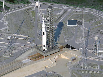 Artists Concept Of Sls Rocket Art Print by NASA/Science Source
