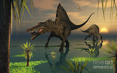 Snout Digital Art - Artists Concept Of Spinosaurus by Mark Stevenson
