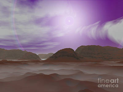 Artists Concept Of The Atmosphere Art Print by Walter Myers