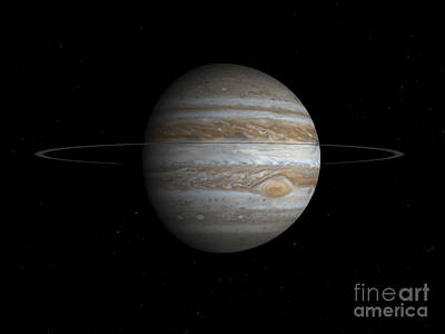 Jovian Digital Art - Artists Concept Of The Planet Jupiter by Walter Myers