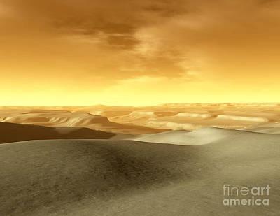 Digital Art - Artists Concept Of The Terrain by Ron Miller