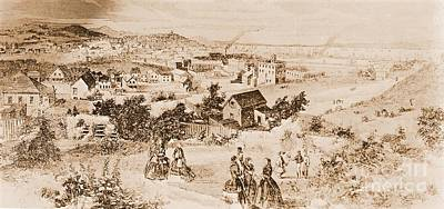Rendition Photograph - Artists Rendition Of San Francisco California In 1856 by Padre Art
