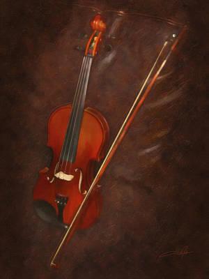Violin Digital Art - Artist's Violin by Dale Jackson