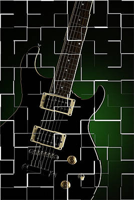 Photograph - Artsy Electric Guitar by M K Miller