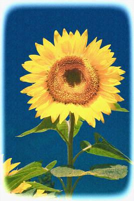Art Print featuring the photograph Artsy Sunflower by Nancy De Flon