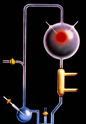 Artwork: Miller-urey Experiment On Origin Of Life Art Print by Francis Leroy, Biocosmos