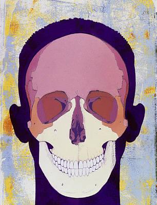 Artwork Of A Human Skull In Front View Art Print by Hans-ulrich Osterwalder
