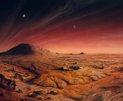 Surface Feature Photograph - Artwork Of Mars Surface by Chris Butler