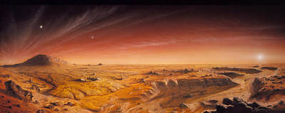 Surface Feature Photograph - Artwork Of Mars Surface Panoroma by Chris Butler