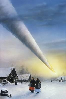 Meteorite Art Photograph - Artwork Of The Sikhote-alin Meteorite, Russia by Detlev Van Ravenswaay