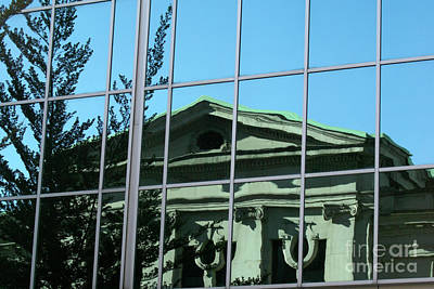 Art Print featuring the photograph Arty Reflection Vancouver Canada by John  Mitchell