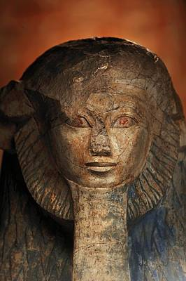 As A Sphinx, Hatshepsut Displays Art Print by Kenneth Garrett