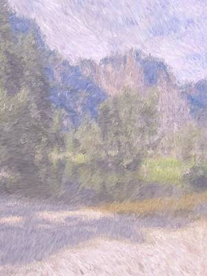 As If Monet Painted Yosemite Art Print by Heidi Smith
