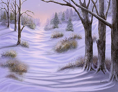 As Snow Falls Comes Silence Art Print by Sena Wilson