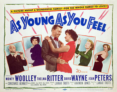 As Young As You Feel, Monty Woolley Art Print by Everett