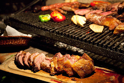 Que Photograph - Asado Prepared In Buenos Aires by Michael &Amp Jennifer Lewis