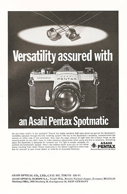 Tv Commercials Digital Art - Asahi Pentax Spotmatic by Georgia Fowler