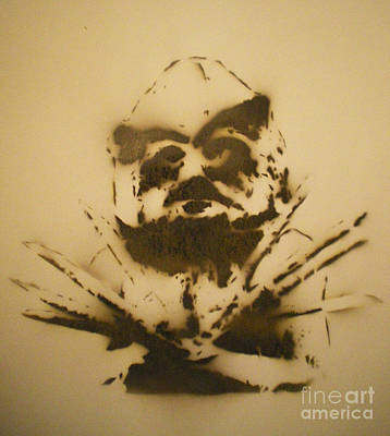 Mudman Painting - Asaro Mudman by Barry Boom