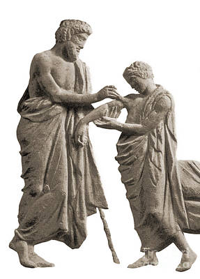 Healer Photograph - Ascelpius Tending Ancient Greek Patient by Science Source