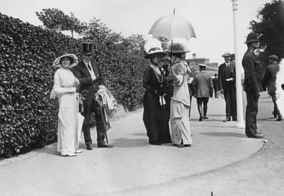 Ascot Photograph - Ascot Fashions by Topical Press Agency