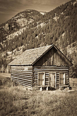 Ashcroft Ghost Town Art Print by Adam Pender