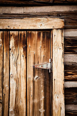 Ashcroft Ghost Town Door  Art Print by Adam Pender