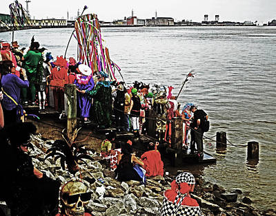 Ashes To Water Mardi Gras Day In New Orleans Art Print