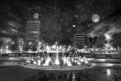 Photograph - Asheville Night Sky by Gray  Artus