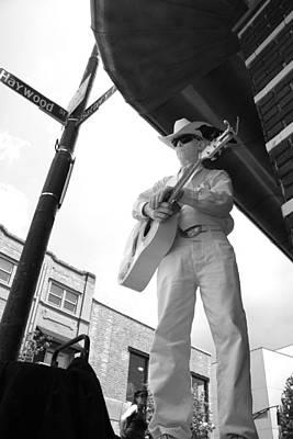 Photograph - Asheville Street Musician by Gray  Artus