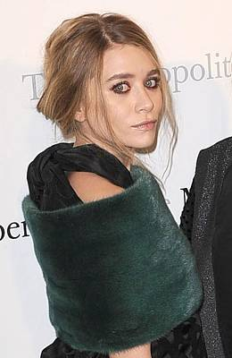 Hair Bun Photograph - Ashley Olsen At Arrivals For The by Everett