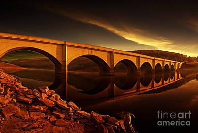 Howden Reservoir Photograph - Ashopton Sun Rise by Nigel Hatton