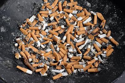 Photograph - Ashtray Full Of Cigarette Stubs by Matthias Hauser