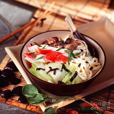 Asian Crab Noodle Soup Art Print by Vance Fox