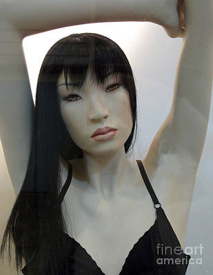 Photograph - Asian Female Face Mannequin by Kathy Fornal
