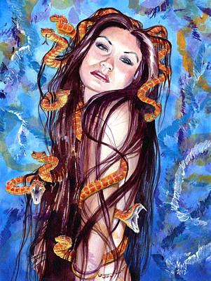 Alluring Painting - Asian Medusa by Ken Meyer jr