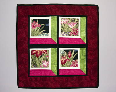 Wall Hanging Quilt Photograph - Asian Shadow Box by Sally Weigand